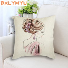 Perfume Paris Tower Flower Girl Nordic Posters Printed Cushion Cover for Sofa Home Decor Pop Art Decorative Pillow