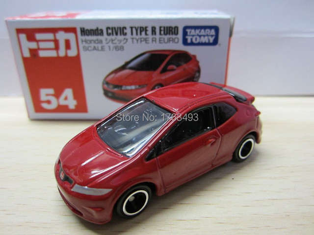 Tomy Tomica 54 Honda Civic Type R Euro Alloy Car Model In Diecasts