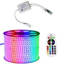 LED Strip 220v -16 Colors RGB Outdoor Waterproof 220V 5050 220 V 1M 5M 10M 20M 100M 200M Remote control