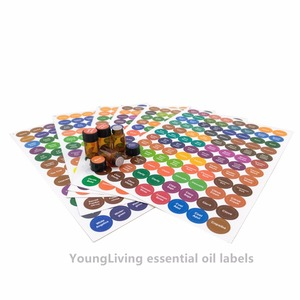 Image 2 - 1set Pre printed Essential Oil Bottles Cap Lid Labels Round Circle Stickers colorful for ALL doTERRA Young Living oils organizer