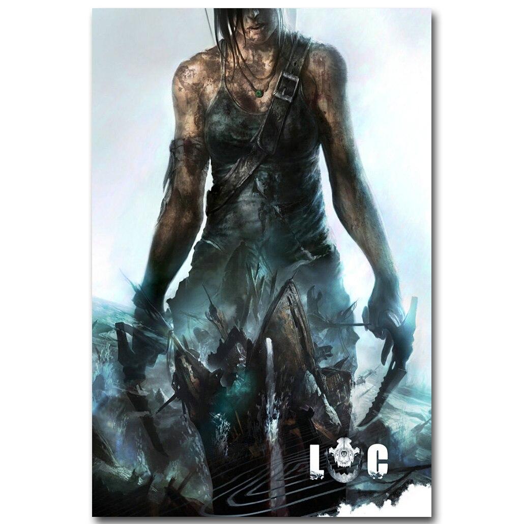 Tomb Raider Poster: Lara Croft Rise Of The Tomb Raider Art Silk Fabric Poster