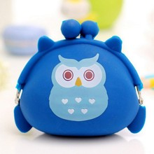 Candy Owls Wallet Silicone Small Pouch Cute Coin Purse for Girl Key Children Mini Animal Case Storage Bag carteira wallet Boy недорого