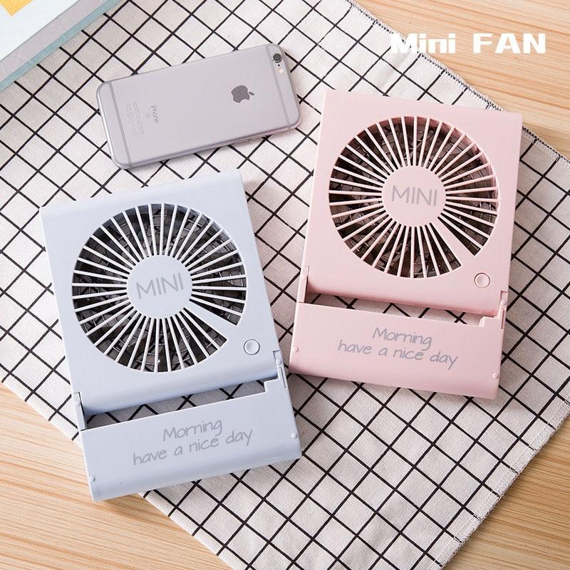 Fashion Usb Charging Fan Notebook Folding Fan Mini Portable Mute Three Gear Adjustment Use for Home Office Hotel Dorm room original xiaomi portable usb mini fan