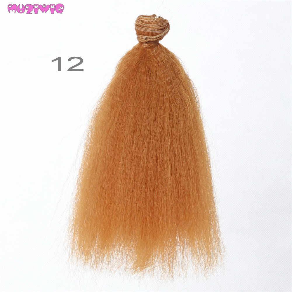 1Pc 15/20*100Cm Hittebestendige Synthetische Afro Kinky Krullend Haar Inslagen Voor Bjd/Blyth/Amerikaanse pop