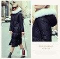 2016 Nueva Marca de Moda de Invierno Ropa de Abrigo Abrigo Parkas Cuello de Piel Mujeres T450 Capuchas Escudo Casual Chaqueta de Alta Calidad