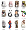100% Original1Piece Bend Rings figure For Ladybro Trency Women Animal Ring Panda Dog Tiger Squirrel Lizard Bear Cat Parrot etc