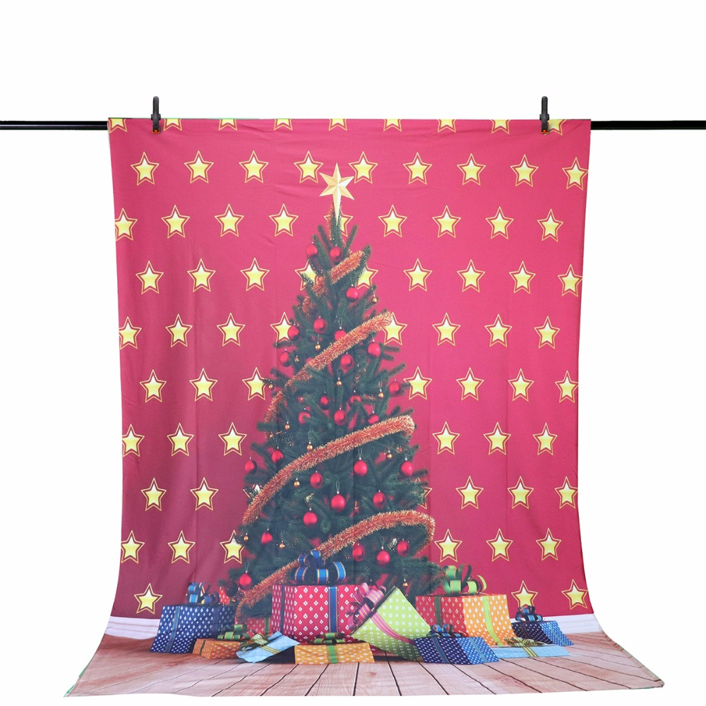 Allenjoy vinyl photographic background Red Star Christmas Tree Child Christmas party Children's fantasy photography backdrop