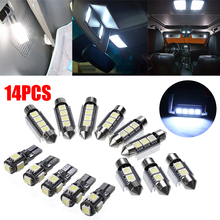 цена на 14pcs White Car Interior LED Light Lamp Bulb Set Kit 39mm 41mm 42mm For BMW 3 Series E90 328i 335i M3