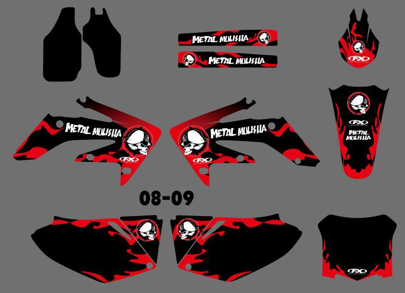 все цены на New Style TEAM GRAPHICS & BACKGROUNDS DECALS STICKERS Kits for Honda CRF250 2008 2009 CRF 250 онлайн