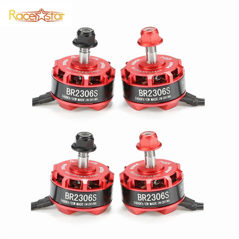 4PCS 4X Racerstar Racing Edition 2306 BR2306S 2400KV 2-4S Brushless Motor For X210 X220 250 FPV Quadcopter RC Drone Racing Drone lhi fpv 4x mt2206 2300kv cw ccw fpv brushless motor 2 4s 4 pcs racerstar rs20a lite 20a blheli s bb1 2 4s brushless esc
