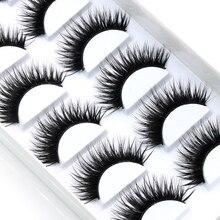YOKPN False EyeLashes 1 Box 6 Pairs Thick Black False Eyelashes Makeup Tips Natural Smoky Makeup Long Fake Eye Lashes k70