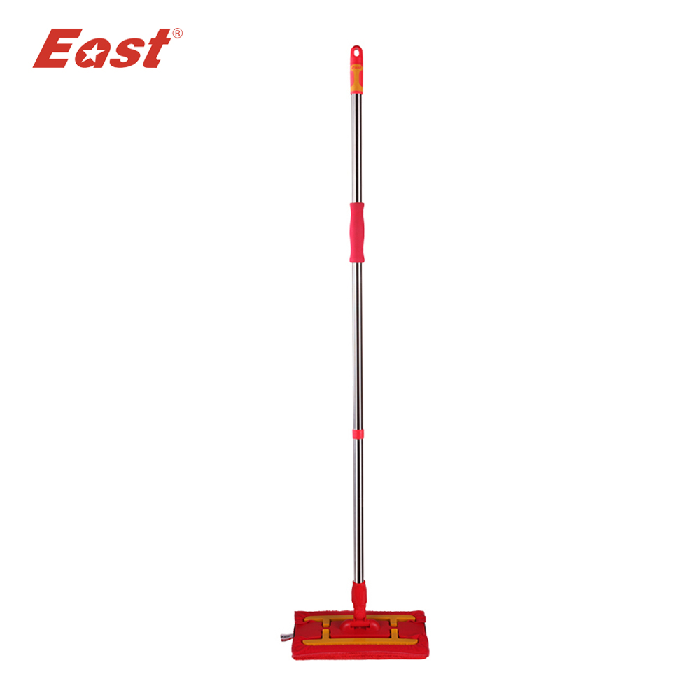 East home Wood floor kitchen living room cleaning tools red telescopic microfiber cloth flat mop
