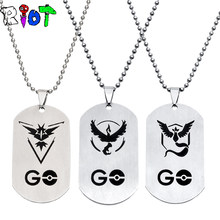6 Types Anime Pokemon Go TEAM MYSTIC INSTINCT VALOR Logo Choker Necklace Pendants Stainless Steel Mem Women Jewelry Fans Gifts(China)