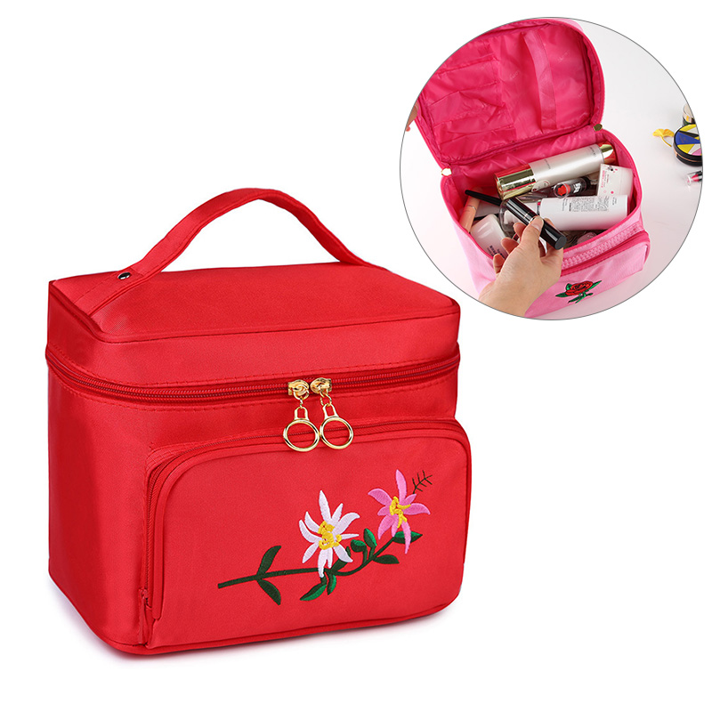 Cosmetic Makeup Box Large Capacity Handbag Travel Toiletry Makeup