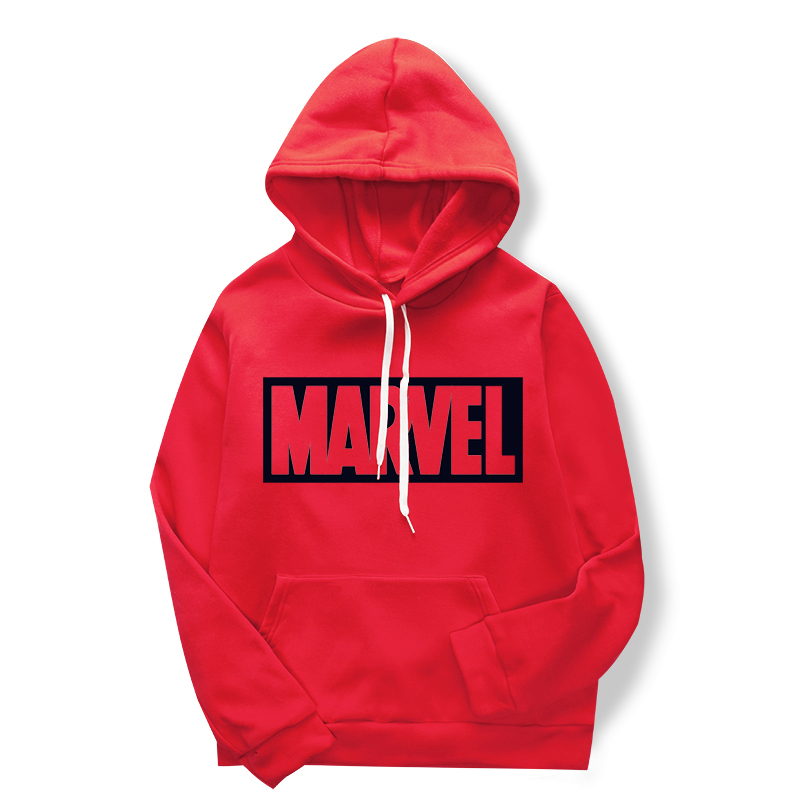 The Newest Fashion Printed Sweatshirts For 2019, Men's And Women's Sweatshirts Hoodies, Red Marvel Printed Sleeve Jumpers
