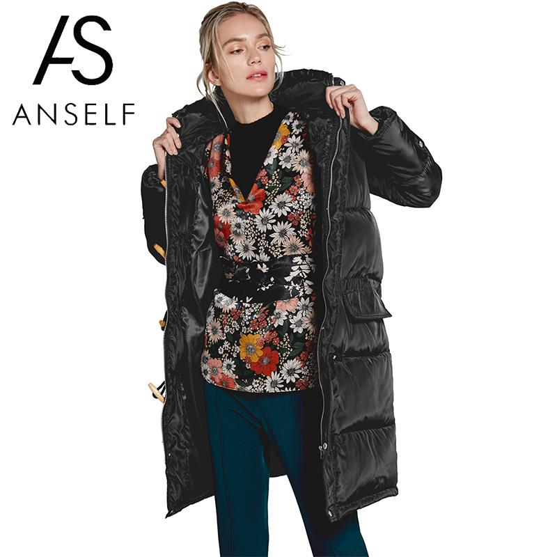 Women Padded Jacket 2019 Autumn Winter   Down     Coat   Hooded Single Breasted Pockets Thicken Long   Coat   Warm Parka   Coat   female tunics