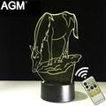 Free envio forma cavalo mesa candeeiro de mesa de toque 7 cores em mudança lâmpada lâmpada 3d novelty dormir levou noite luz usb conduziu a luz