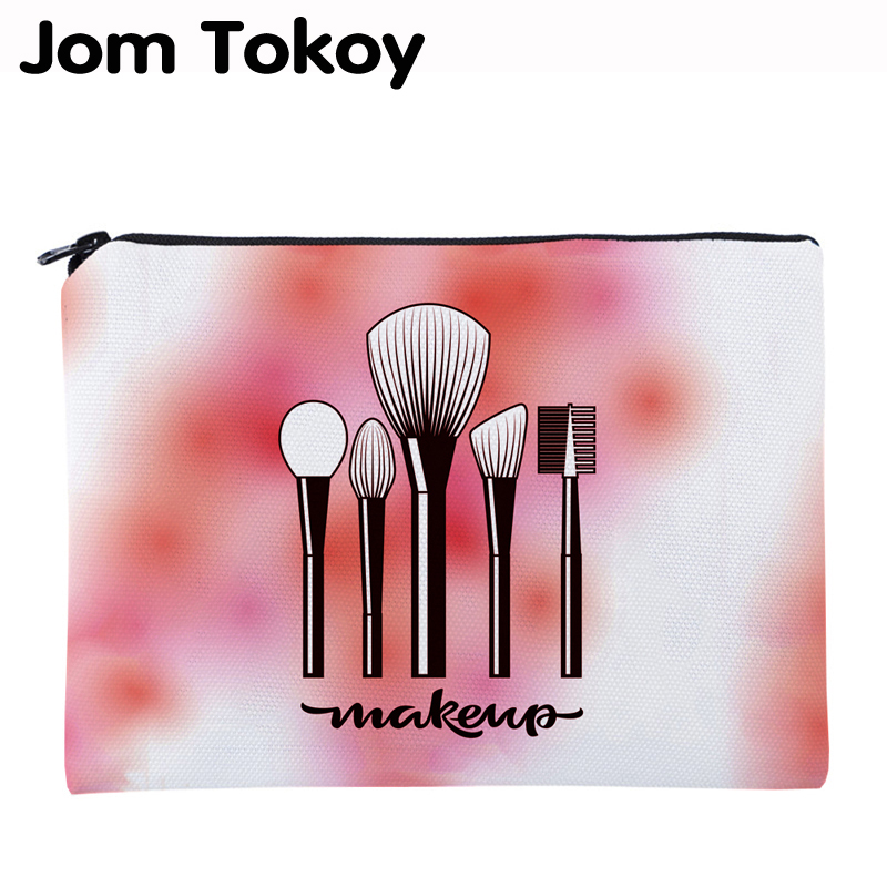 Jom Tokoy Printing Make Up Necessaries For Travelling Organizer Makeup Women Letter Cosmetic Bags With Zipper