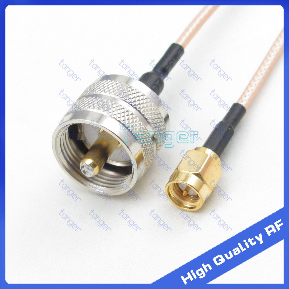 Tanger UHF male plug PL-259 to SMA male plug straight connector with 20cm 8 RG316 RG-316 RF Coaxial Pigtail cable high qualityTanger UHF male plug PL-259 to SMA male plug straight connector with 20cm 8 RG316 RG-316 RF Coaxial Pigtail cable high quality