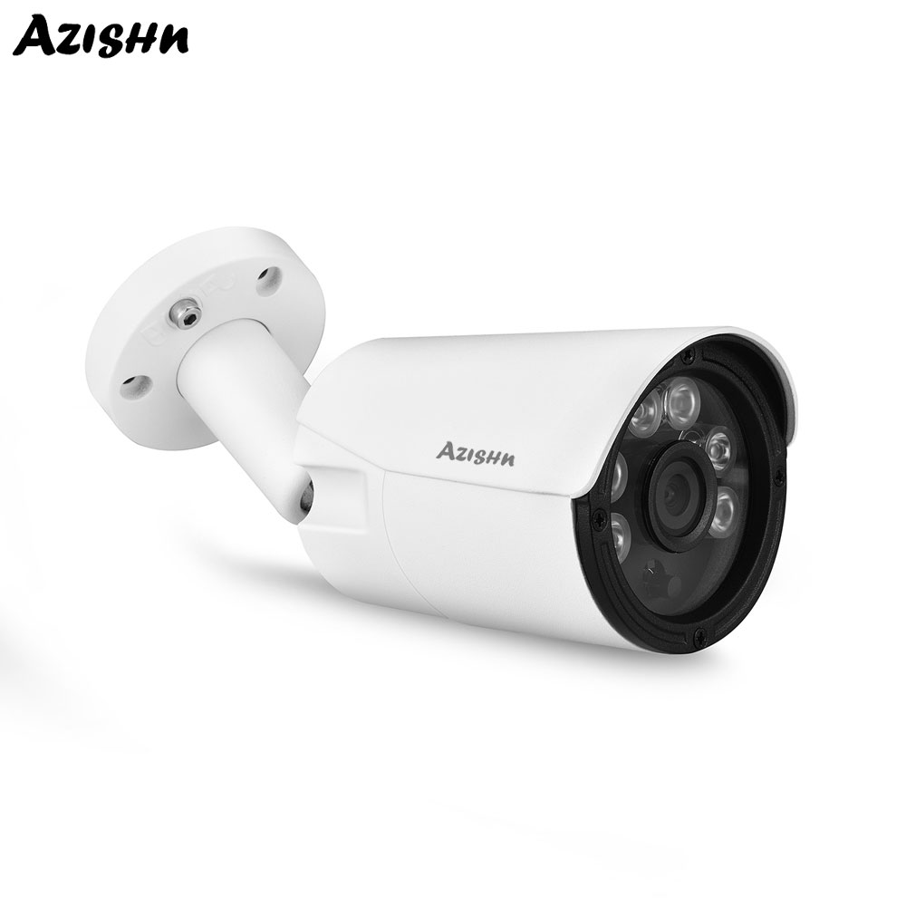 AZISHN Security POE 48V IP Camera DSP <font><b>Hi3516EV300</b></font>+SONY IMX335 Video Surveillance 5.0MP Night Vision CCTV Waterproof Outdoor Cam image