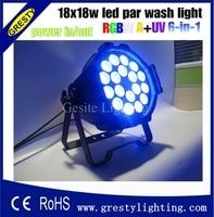 6 uds/Lote 18 Uds * 18W 6 en 1 RGBW Par 64 luz LED  iluminación de escenario 330W alta calidad Led Par 64 luz  luces Par DMX|par light|par 64 led light|par 64 -