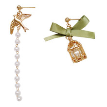 Unique design is contracted temperament of pearl earrings female court wind restoring ancient ways earring ear clip