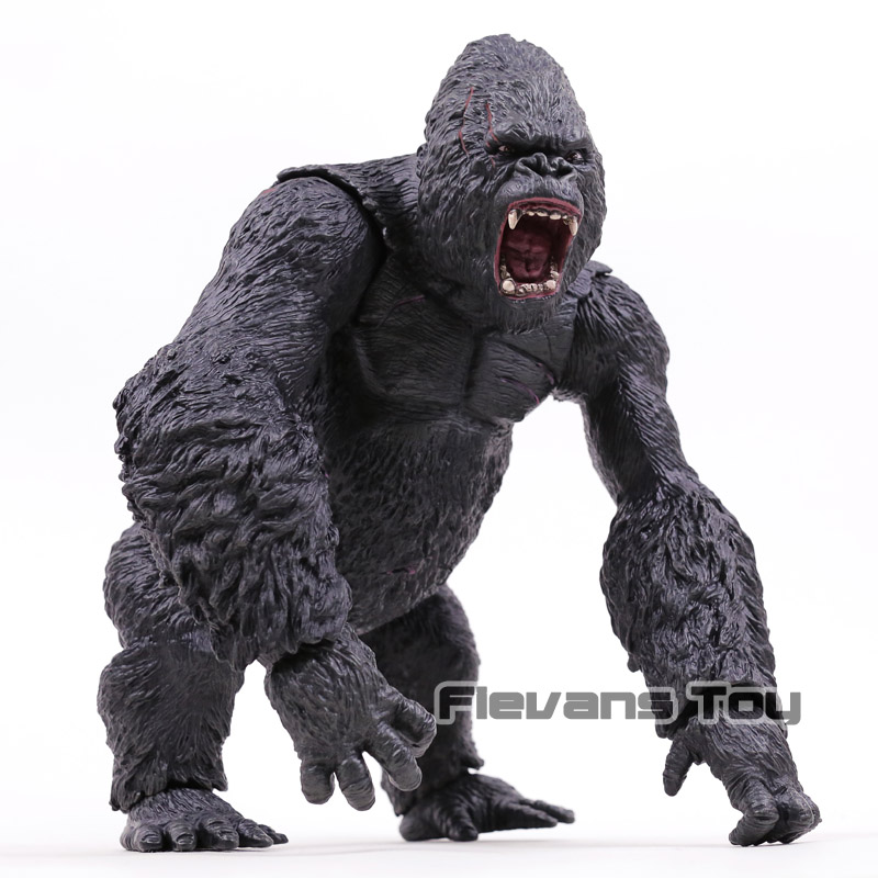 BIG Size 31cm King Kong King Kong Skull Island PVC Action Figure Collectible Model Toy Gift black orangutan 75x85cm chimpanzee plush toy black king kong doll gift w4663