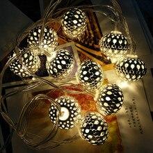 Уникальный стиль Марокко Стиль Света Светодиодные струны Аккумуляторный свет партии на Рождество Свадебный ресторан