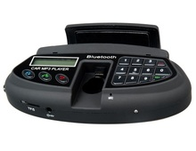 Car Steering Wheel Car Kit with Bluetooth Headset, Phonebook MP3 Player and FM Radio (Black) Car Electronics Accessorie