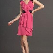 Новое милое коктейльное платье без рукавов с v-образным вырезом