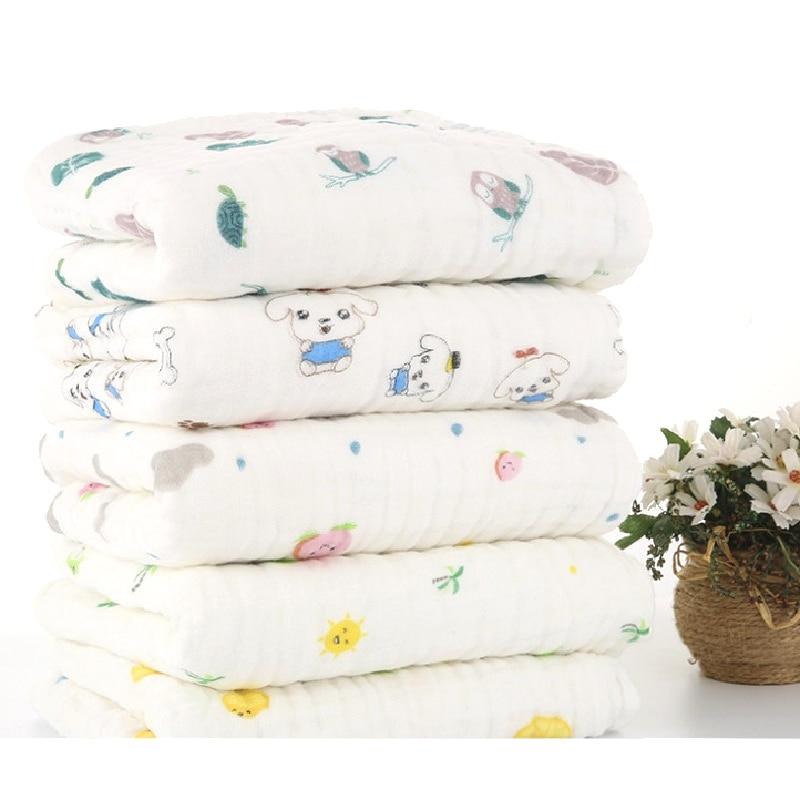 Mantas de muselina para bebés Envoltura de envoltura de algodón - Ropa de cama - foto 3