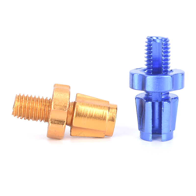 Blue&Gold Aluminium Alloy Bicycle Screw Fixing Nuts Steering Bike Braking Cable Accessories Fixing Nut For Bicycle