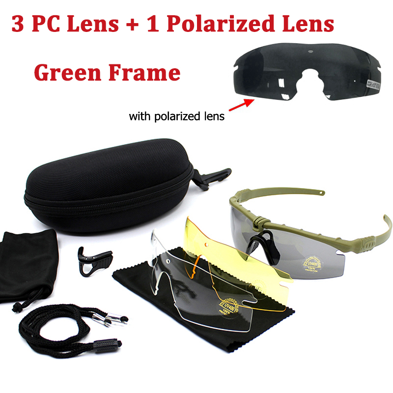 Tactical Polarized Glasses Army Goggle Eyewear Shooting GLasses Men Outdoor Sport Sunglasses For Wargame Hunting