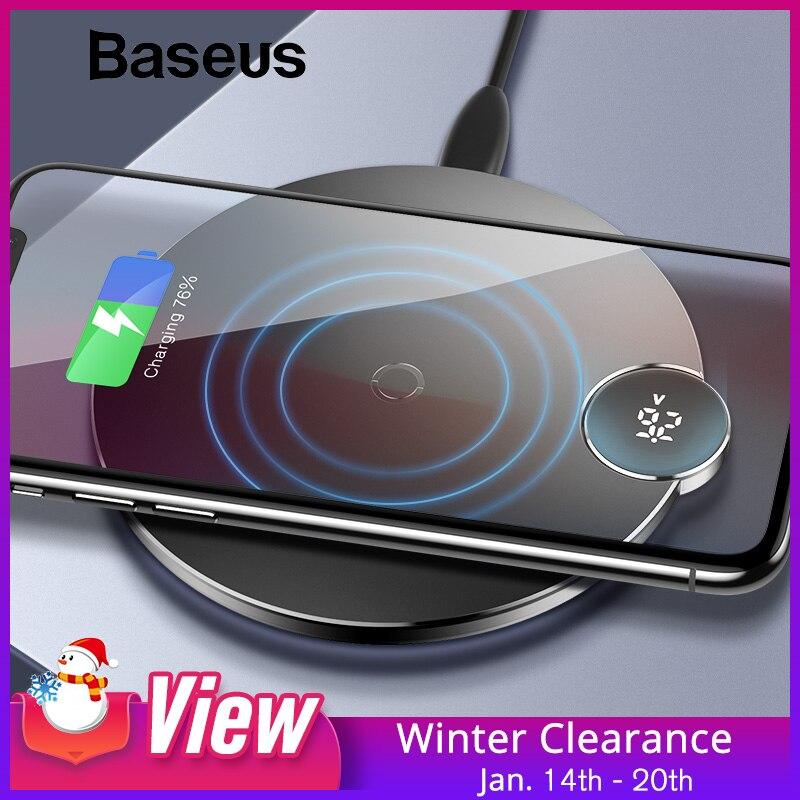 Baseus LED Digital Display Drahtlose Ladegerät für iPhone XS Max XR X 8 Qi Wireless Charging Pad für Samsung Galaxy s8 S9 + Hinweis 9 8