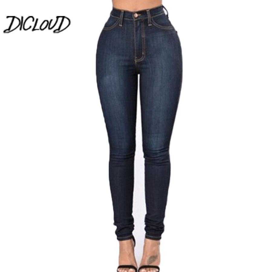Stretch Jeans Women Casual High Waist Woman'S Pants Tight Pencil Trousers Simple Plus Size Ladies Pants 2018 Pantalon Femme