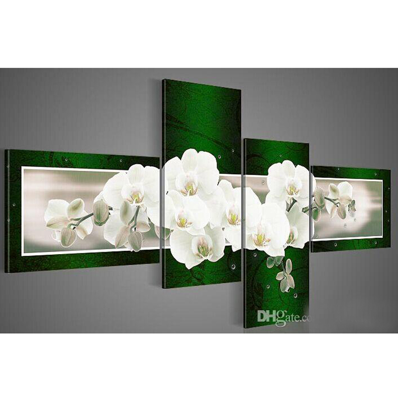 NEW 100% hand painted modern decorative oil painting on canvas wall art flower picture for living room unique christmas gifts