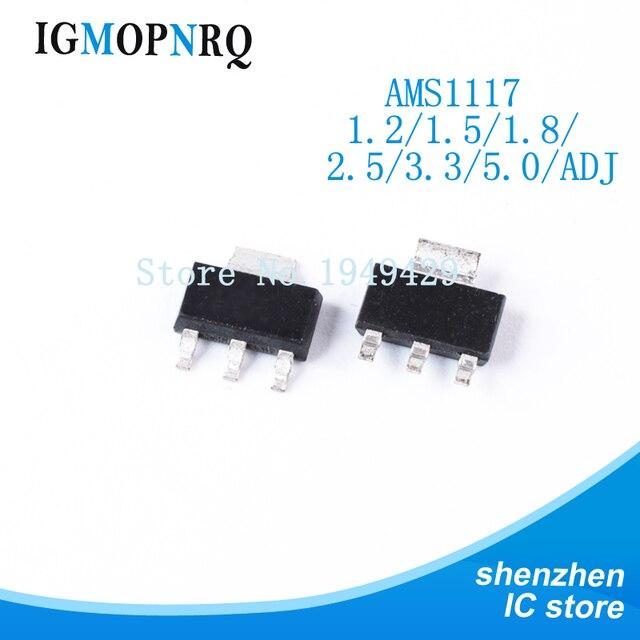 50PCS AMS1117 AMS1117-3.3V AMS1117-ADJ AMS1117-1.8 AMS1117-1.2 AMS1117-2.5 AMS1117-3.3 AMS1117-5.0 AMS1117-1.5 SOT-223 New
