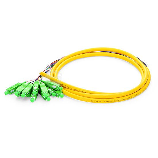 QIALAN 1 5m 5ft 12 Fibers SC APC 9 125 0 9mm PVC Jacket Single Mode Bunch Fiber Optic Pigtail in Fiber Optic Equipments from Cellphones Telecommunications