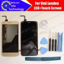 Umi London LCD Display + Touchscreen Digitizer 100% Original Getestet LCD Für London + werkzeuge + klebstoff