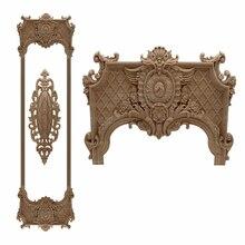 RUNBAZEF Applique en bois de chêne sculpté avec motif Floral, coin Vintage, décoration dintérieur, accessoire de Maison, porte, meuble mural