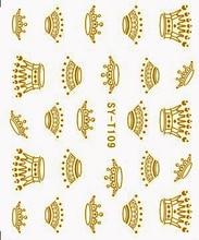 6 упаковок/lot золото/серебро воды Наклейки металлик для ногтей наклейки Корона китайский дракон тотем syt109-114