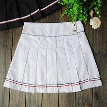 В студенческом стиле Спортивная юбка женский плиссированные теннисная юбка Спортивная юбка юбки для игр для девочек с брюками безопасности