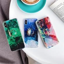 Kickstand Colorful Cameo Shell Funda Platinum Glitter Case for iphone 6 6S 7 8 Plus10 X XS Max Xr Cover Soft TPU Bling Sequins