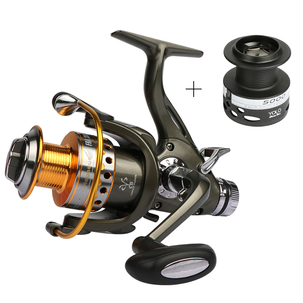 Goture dual brake feeder fishing reel 10bb carp reel for Carp fishing reels