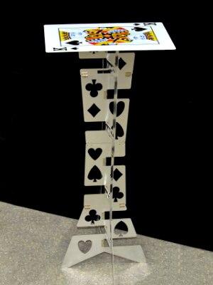 Aluminum folding table (Silver,Poker Pattern) - Magic Tricks,Magic Accessories,Close Up,mentalism Magic Props,Stage