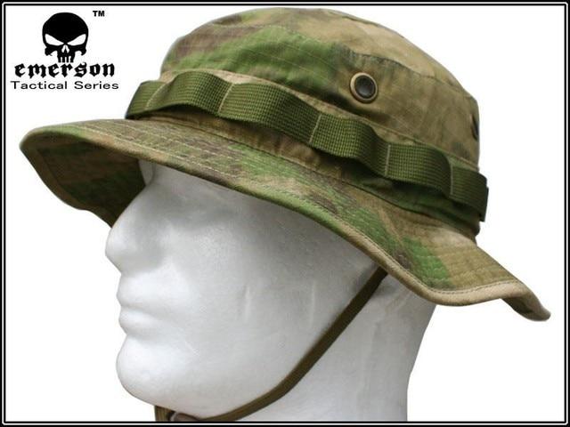 Emerson Tactical Airsoft Sniper Bucket Hat Battle Rip Bonnie Hats Mens  Hiking Fishing Hunting Cap Sports Sunhats AT-FG EM8707 cba59a86ae6c