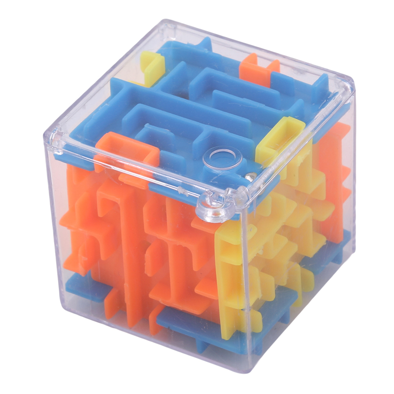 Colorful 3D Mini Maze Puzzle Speed Cube Labyrinth Rolling Ball Toys Puzzle Game For Children Intellegence Develop