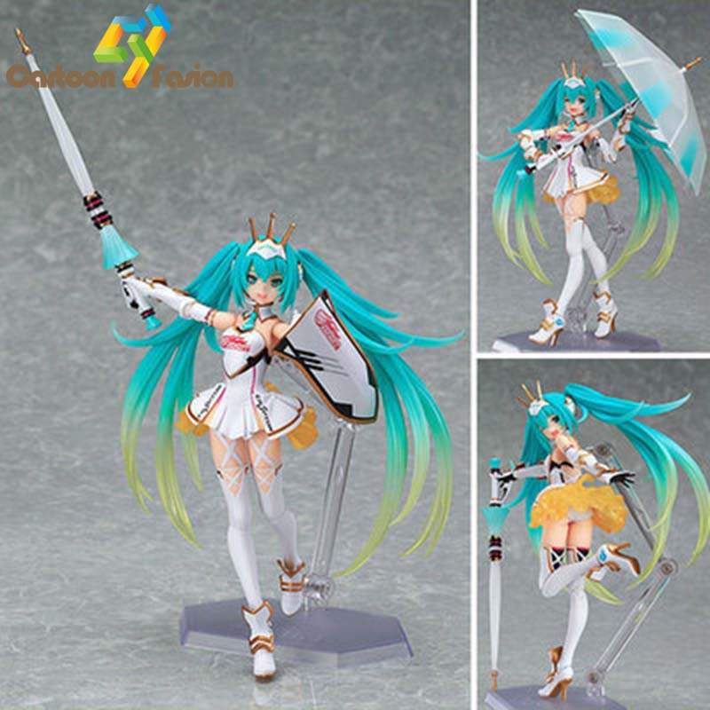 Japan <font><b>Anime</b></font> <font><b>Hatsune</b></font> <font><b>Miku</b></font> EV Mirai <font><b>Racing</b></font> Figma 233 Figure <font><b>PVC</b></font> <font><b>Sexy</b></font> Girl <font><b>PVC</b></font> <font><b>Action</b></font> Figures Collection Model Toy Gifts for Fans