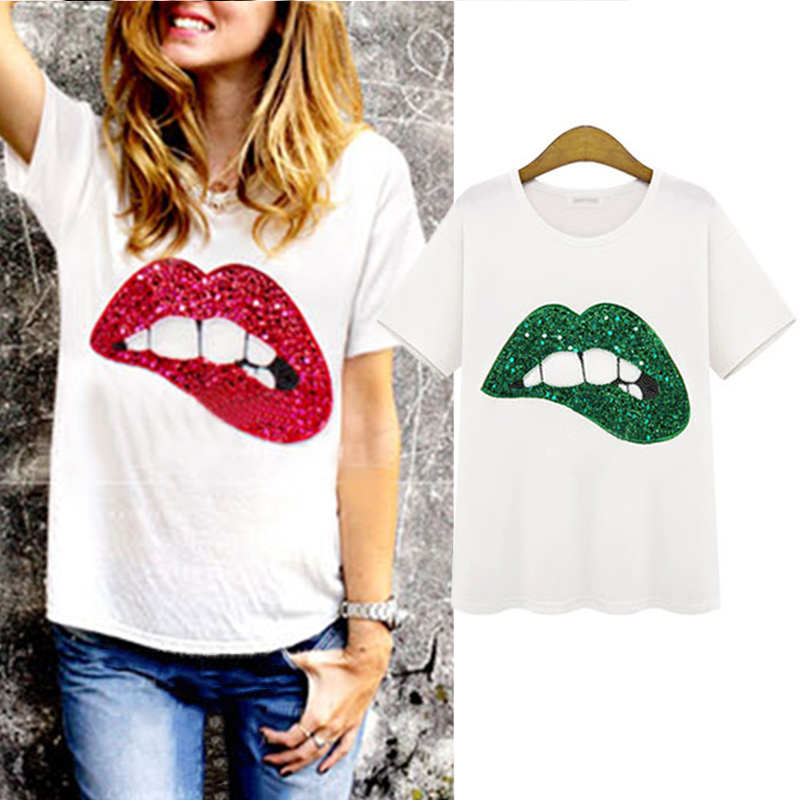 Online Get Cheap Red Lips Shirts -Aliexpress.com | Alibaba Group