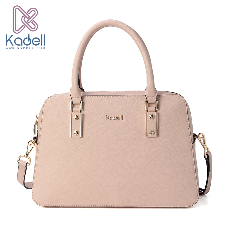 Kadell Luxury Women PU Leather Handbags Litchi Pattern Business Large Elegant Briefcase Female Bag Women Messenger Bags Tote kadell hollow designer handbags high quality women casual tote bag female large shoulder messenger bags pu leather business bag